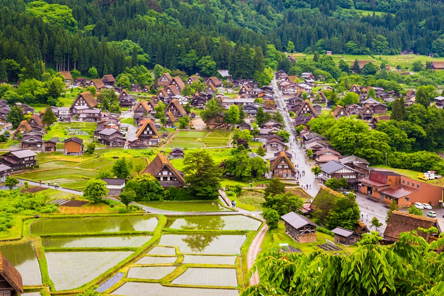 Japan Shirakawago Authentieke huisjes