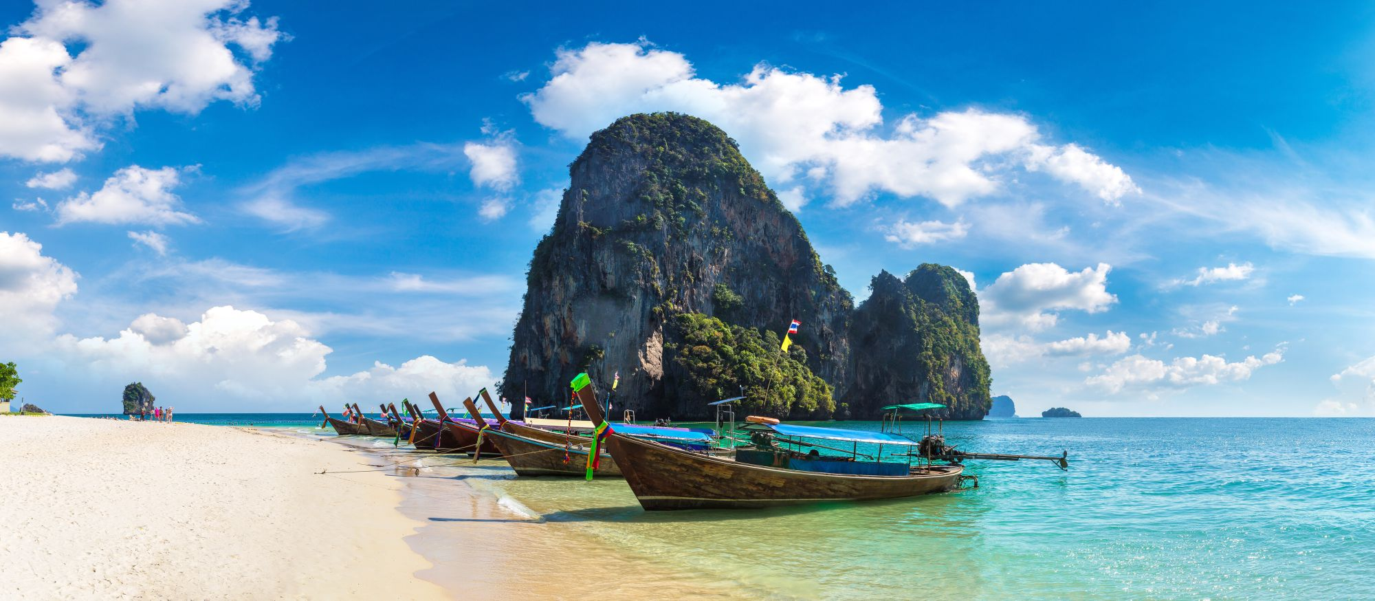Thailand Krabi Phra Nang Beach long tail boot