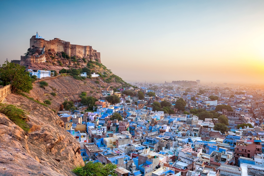 India Rajasthan Jodhpur The Blue City and Mehrangarh Fort