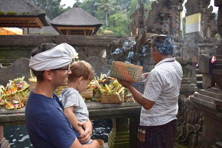 Indonesie Bali Tirta Empul watertempel offer